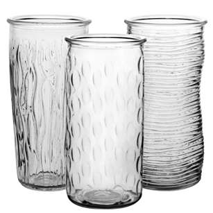 "9 3/4"" Rose Vase Assortment, Crystal,  Pack Size: 12"