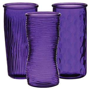 "9 3/4"" Rose Vase Assortment, Violet,  Pack Size: 12"