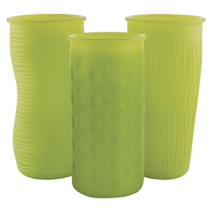 "9 3/4"" Rose Vase Assortment, Matte Limon,  Pack Size: 12"