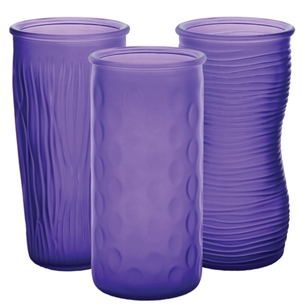 "9 3/4"" Rose Vase Assortment, Violet Frost,  Pack Size: 12"