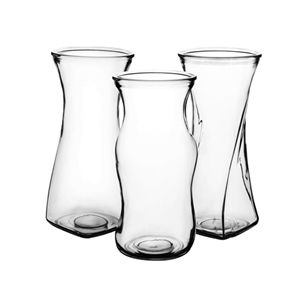 "8 1/2"" Rose Vase Assortment, Crystal,  Pack Size: 12"