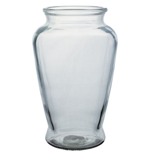 "8 3/4"" Square Urn, Crystal,  Pack Size: 12"