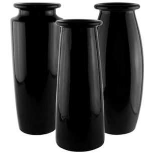 "9"" Trio Bouquet Vase Asst., Black,  Pack Size: 12"