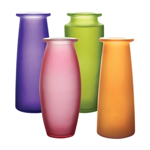 "9"" Trio Bouquet Vase Asst., Breeze Assortment,  Pack Size: 12"