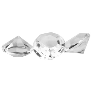 Diamond Gems - 16 mm, Crystal,  Pack Size: 5
