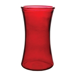 "8"" Gathering Vase, Ruby,  Pack Size: 12"