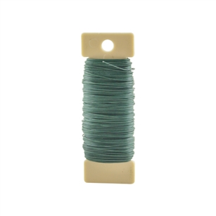 24 Gauge 1/4 lb Paddle Wire, Green,  Pack Size: 160