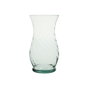 "8 3/4"" Optic Rose Vase, Crystal,  Pack Size: 12"