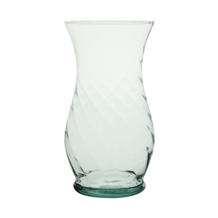 "10 1/2"" Optic Rose Vase, Crystal,  Pack Size: 6"