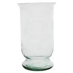 "13 3/8"" Hurricane Vase, Crystal,  Pack Size: 4"