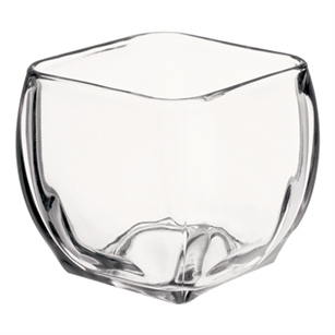 "4 1/4"" Large Tapered Square, Crystal,  Pack Size: 12"