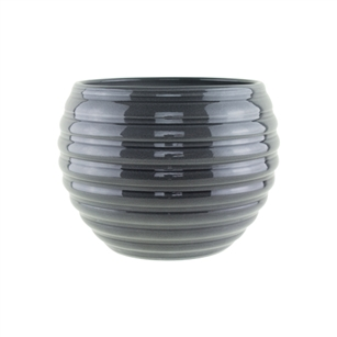 "730 6 1/4"" Pot, Glass Grey,  Pack Size: 3"