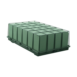 1 2/3 Brick Cage with Aquafoam, Green,  Pack Size: 6