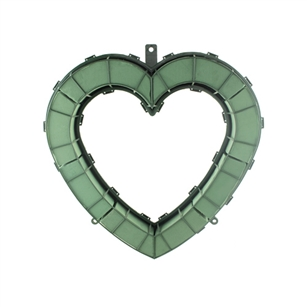 "18"" Open Heart, Green,  Pack Size: 2"