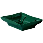 "8"" Centerpiece Tray, Green,  Pack Size: 48"