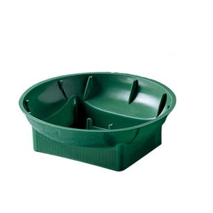 "6"" Single Design Bowl, Green,  Pack Size: 48"