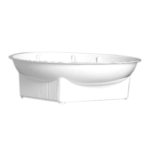 "6"" Single Design Bowl, White,  Pack Size: 48"