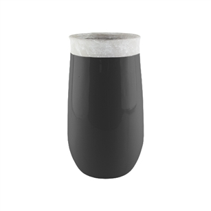 "11 1/2"" Dane Vase, Black,  Pack Size: 2"