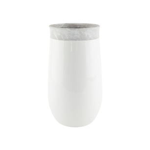 "11 1/2"" Dane Vase, White,  Pack Size: 2"