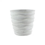 "5 1/4"" Urban Wave Planter, White Chalk,  Pack Size: 6"