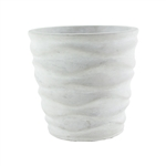 "6 3/4"" Urban Wave Planter, White Chalk,  Pack Size: 6"