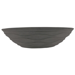 "15 1/2"" x 6"" Urban Wave Bowl, Slate,  Pack Size: 4"