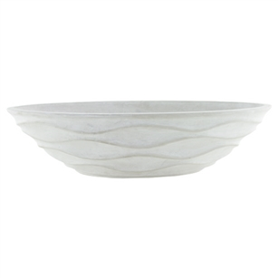 "15 1/2"" x 6"" Urban Wave Bowl, White Chalk,  Pack Size: 4"