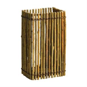 "7"" Willow Vase w/Liner, Natural,  Pack Size: 12"