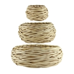 "Willow Bowl 2 sets-5 10 14"", Peeled Natural,  Pack Size: 6"