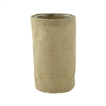 "6 1/4"" Round Burlap w/Glass, Natural Burlap,  Pack Size: 12"