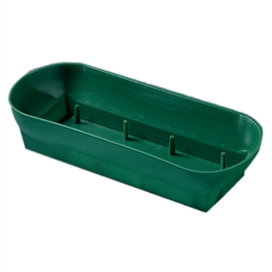 "10 1/2"" Double Design Bowl, Green,  Pack Size: 48"