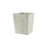 "5 1/2"" Tapered Square Vase, Weathered Slate,  Pack Size: 4"