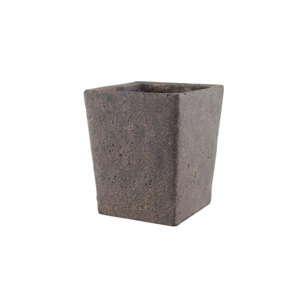 "5 1/2"" Tapered Square Vase, Weathered Brown,  Pack Size: 4"