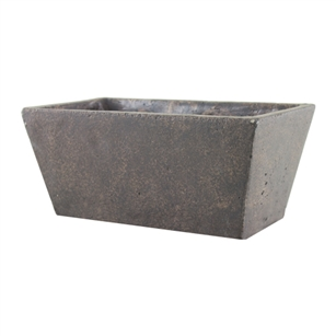 "4 1/4""x9 1/2"" Tapered Planter, Weathered Brown,  Pack Size: 4"