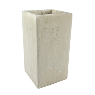 "9 3/4"" Square Vase, Weathered Slate,  Pack Size: 4"