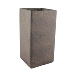 "9 3/4"" Square Vase, Weathered Brown,  Pack Size: 4"