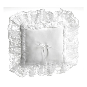 Square Pillow, White Lace w/ Green Pkg,  Pack Size: 12