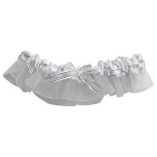 Garter, Silver Ribbon,  Pack Size: 12