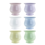 "4 3/4"" Pedestal Compote, Seaside Pastel Assortment,  Pack Size: 18"