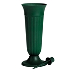 "10"" Trinity Urn, Green,  Pack Size: 36"
