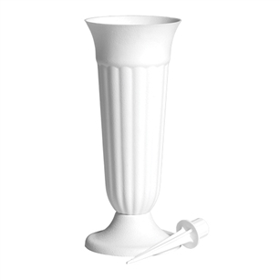 "10"" Trinity Urn, White,  Pack Size: 36"