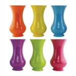 "9 3/4"" Pedestal Vase, Popsicle Assortment,  Pack Size: 12"