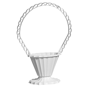 Fluted Basket, White,  Pack Size: 18