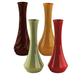 "9"" Bud Vase Asst, Safari Assortment,  Pack Size: 18"