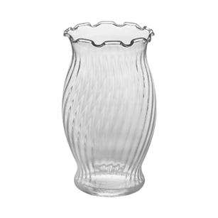 "6 5/8"" Fluted Vase, Crystal,  Pack Size: 24"