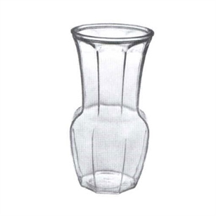 "9 1/2"" Rose Vase, Crystal,  Pack Size: 12"