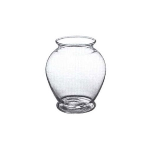 "5"" Ginger Vase, Crystal,  Pack Size: 12"