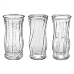 "8 1/2"" Rose Vase Asst., Crystal,  Pack Size: 12"