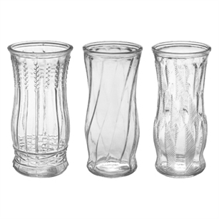 "8 1/2"" Rose Vase Asst., Crystal,  Pack Size: 24"