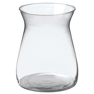 "8"" Cinched Hurricane Vase, Crystal,  Pack Size: 4"